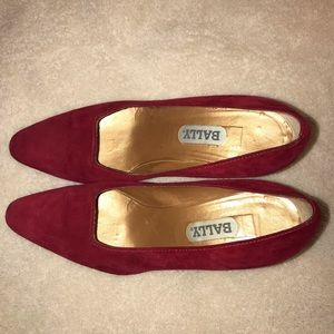 Vintage Bally red suede heels size 8.5M